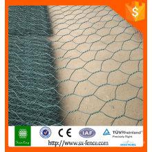 El pvc caliente de la venta de la alta calidad recubrió el acoplamiento de alambre / la caja del gabion
