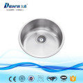 Jepara Indonesia Furniture Cast Iron SS304 Round Mixing Single Bowl RV Steel Kitchen Sink
