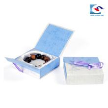 Atacado impresso caixas de presente de papelão pequena caixa de jóias para embalagem colar