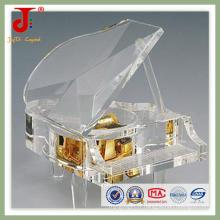 Cadeau de Saint Valentin en cristal clair pour piano (JD-CD-101)