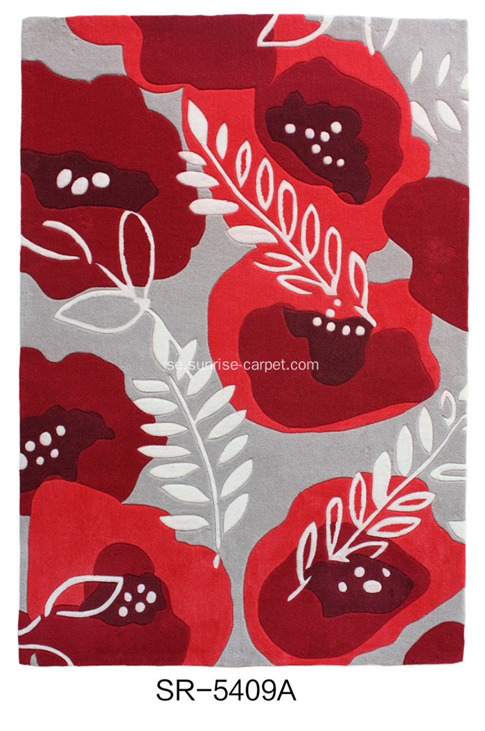Hand-tufted Floral Design Matta