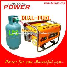 Gerador de LPG pequeno Eco 1KW, 3.0HP gerador