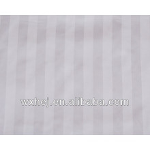 SATEEN STRIPE WHITE LINEN COTTON FABRIC