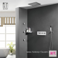 Wall Mounted Thermostatic Three Function Shower Faucet