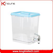 1 Gallonen-Quadrat-Plastikwasser-Krug Großhandels-BPA frei mit Zapfen (KL-8021)