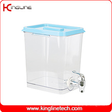 1 Gallon Square Plastic Water Jug Wholesale BPA Free with Spigot (KL-8021)