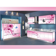 Rta Pink L Shape Kitchen Cabinet