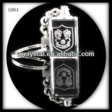 laser etched crystal keychain and blank crystal G064