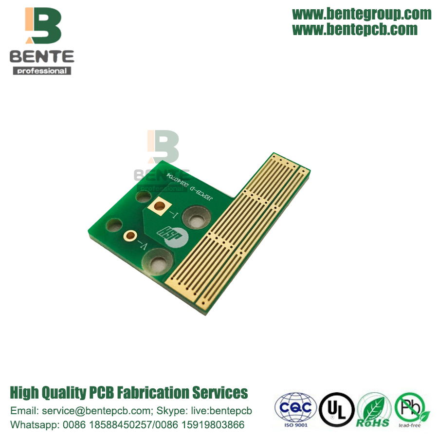 2 Lagen PCB Quickturn PCB FR4 Tg135 Tapered Holes