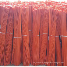 Marqueur d'allée orange en fibre de verre avec ruban réfléchissant de 9 po
