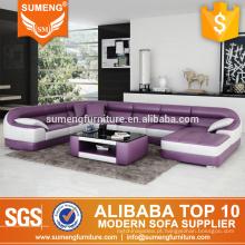 Elegante forma redonda moderna nova design sofá de canto, sofá de canto conjunto de projetos e preços, sofá de canto