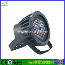 Iluminação de palco 36 * 1W rgb impermeável led luz par
