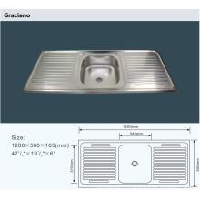 Оптовая портативный Кемпинг Ванная комната для мытья рук из нержавеющей стали Кухонная раковина с двойным drainboard