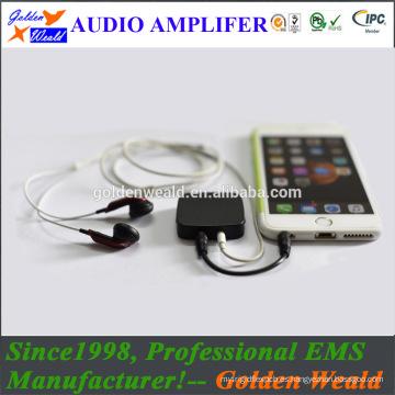 Amplificador de batería de amplificador recargable amplificador de auriculares de silicona