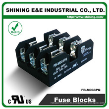 FB-M033PQ 600V 30 Amp 3 Pole 10x38 Midget Fuse Holder Block