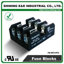 FB-M033PQ 600V 30 Amp 3 Pole 10x38 Midget Fuse Holder Block