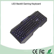 Nuevo diseño de impresión láser LED teclado (KB-1801EL)