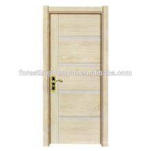 Elegante puerta interior de madera de melamina económica