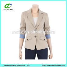 100% algodón lavado chaqueta de chaqueta abrigo