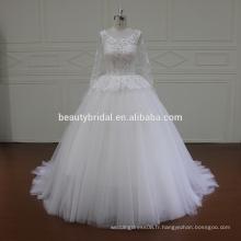 Guangzhou une ligne de robes de mariée échantillon réel