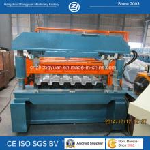 Rolo de alta velocidade do Decking do assoalho do metal do ISO que forma a máquina