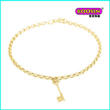 Heißer Verkaufs-Qualitäts-Legierungs-Goldschlüssel-Charme-Armband-Schmuck