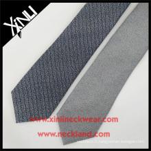 2016 hiver gris filé laine de soie mélangé cravate pour hommes laine cravates