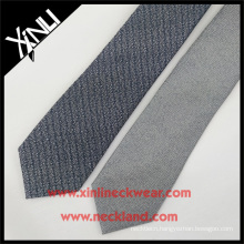 2016 Winter Grey Spun Silk Wool Blended Tie for Men Wool Neckties