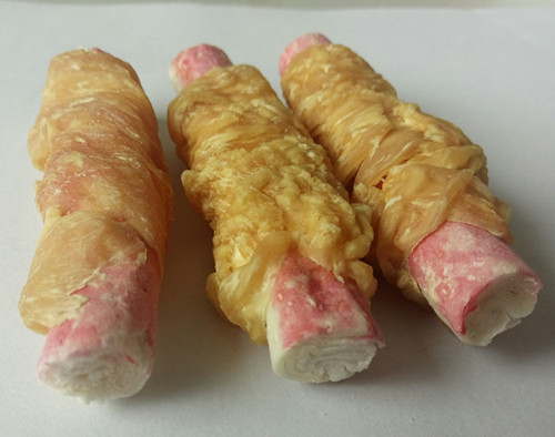 chicken and crab stick for dog