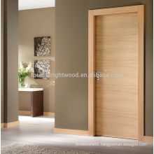 Solid core veneer flush door design for room