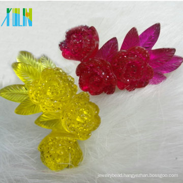 High flatback clear jelly neon effect resin flower 25mm*45mm