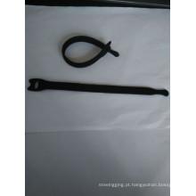 Black Polyster Hook & Loop Cable Tie para gerenciamento de arame