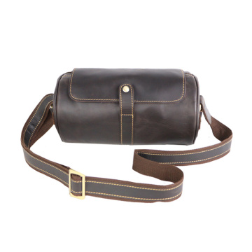 Lederen Cool Barrel Sling Crossbody Tas voor heren