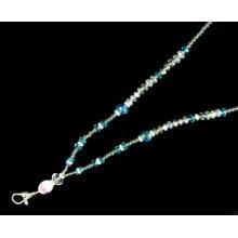 Handgemachte Metallhaken Kristall Hals Perlen Bling Lanyards