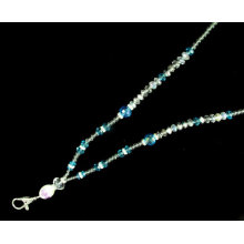 Gancho de metal hecho a mano Crystal Neck Beaded Bling Lanyards
