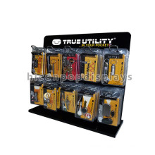 Multi-Function Table Top 10 Wire Hook Stands For Display, Metal Utility Keychain Display Stands