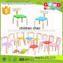 Высокое качество конфеты цвета деревянные дошкольные детские стулья