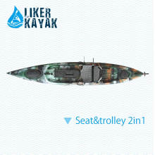 4.3m Емкость 158kgs сидит на верхней части рыболовства Angler Kayak