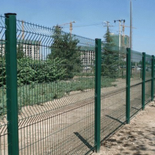 powder coated green wire mesh fence