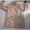 Yj-1076 Winter Windstopper Lined Yellow Softshell Jacket for Men Mens