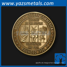 fertigen Sie Metallmünzen besonders an, kundenspezifische hochwertige akademische antike Metall, die 3D Münzen palting