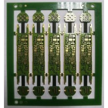 Multilayer R-F circuit with edge plating