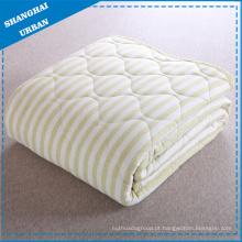 Cobertor De Listras De Cama De Algodão Único