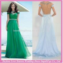 HE10097 atacado mulheres roupas noite mulheres formal vestido de mangas curtas elegante elegante com pérolas modernas vestido longo da noite