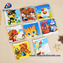 Heat transfer printing 100% polyester microfiber kids cartoon towel