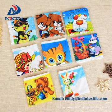Impressão de transferência de calor 100% poliéster microfibra crianças dos desenhos animados toalha