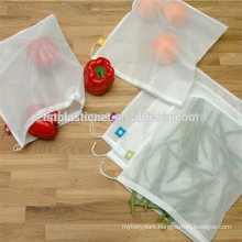 Reusable white color mono mesh bags for fruit and vegetable