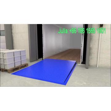 Almacén usado rampa para coche estacionario muelle nivelador rampas de muelle en venta precio bajo