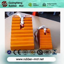 Rubber Wedge with Orange & Black Color, Rubber Wheel Chock, Rubber Car Stopper