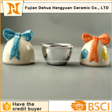 Ceramic Easter Eggs Shape Small Candy Jar for Easter Gift
